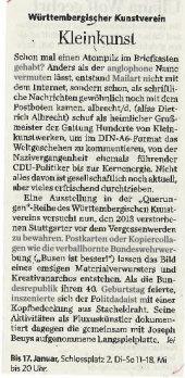 Stuttgarter Zeitung 7. Dezember 2915