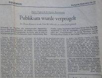 Stuttgarter Zeitung über Fluxus-Konzert 19. 2. 1971