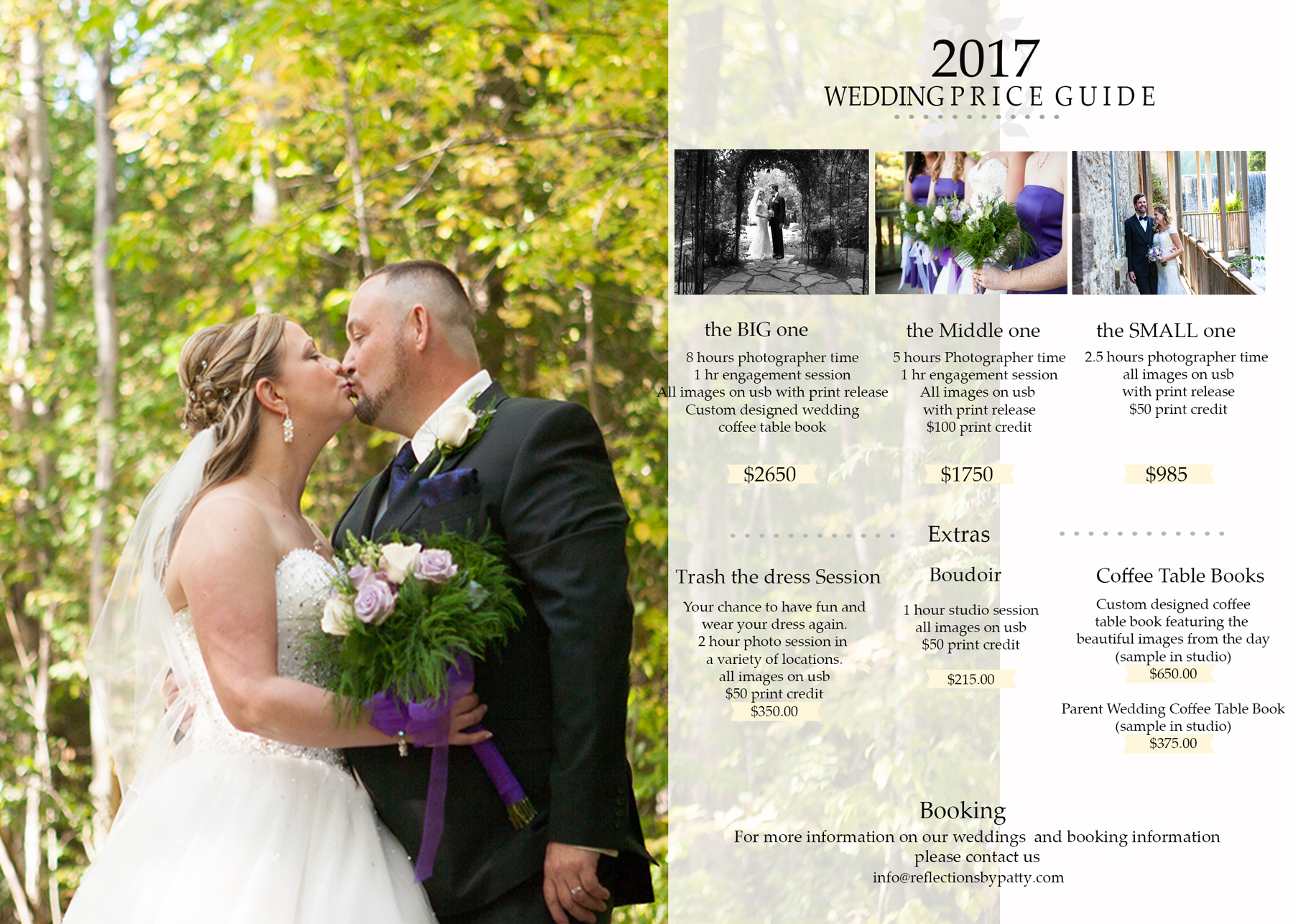 Wedding Photography 2017 Wedding Packages {Orangeville
