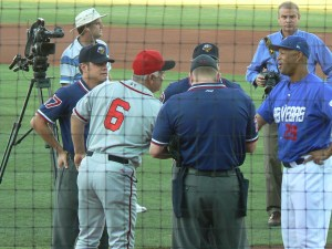 Baseball Rituals - The Meeting At Home Plate