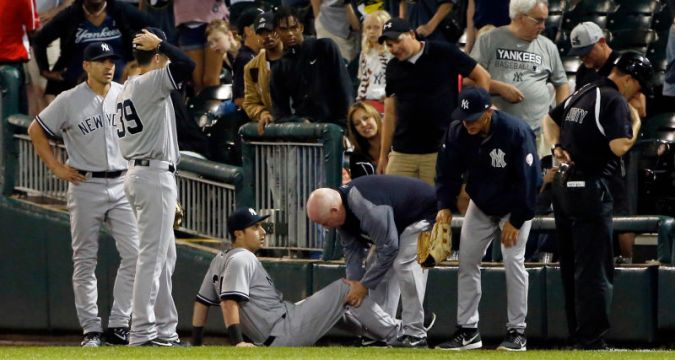 Dustin Fowler, June 29, 2017 (Photo Credit: Deadspin)