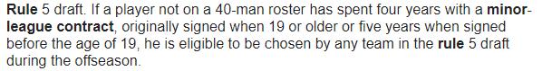 MLB Rule 5