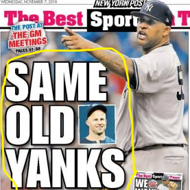 November 7, 2018 New York Post Back Page