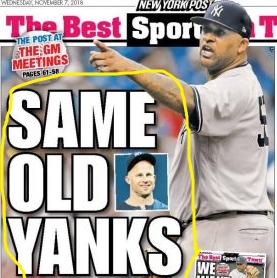 November 7, 2018 New York Post Back Page