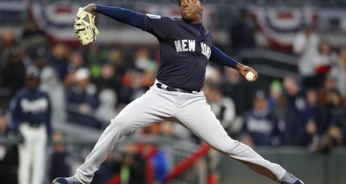 Aroldis Chapman, New York Yankees Closer Photo Credit: Todd Kirkland/AP.