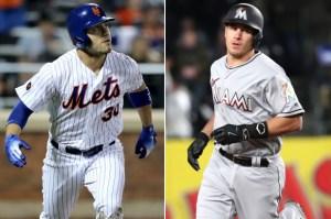 Michael Conforto, Mets J.T. Realmuto, Marlins Photo Credit: New York Post