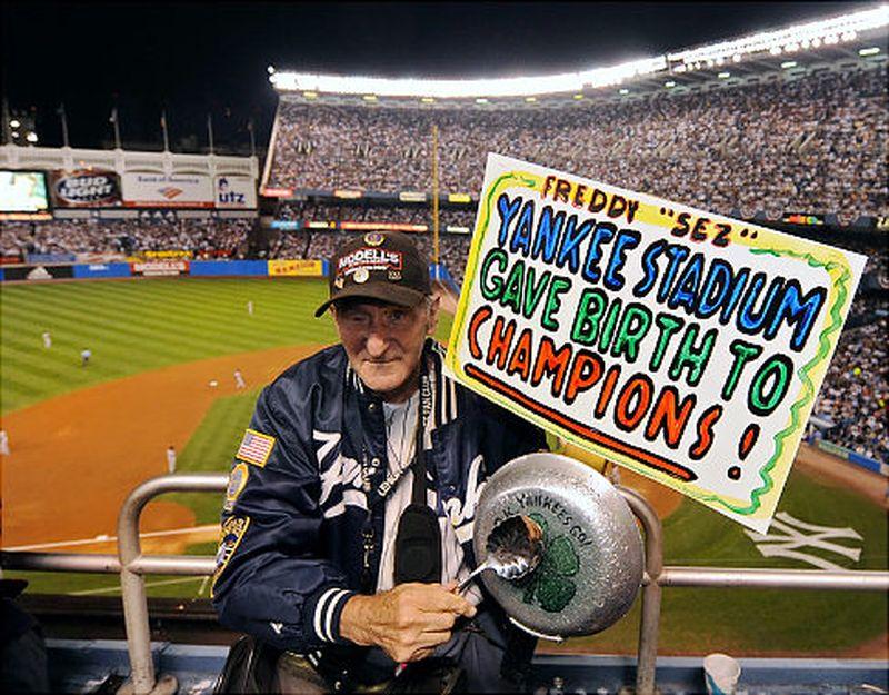 """Freddie"" Longtime Yankees Fan (Photo: New York Daily News)"