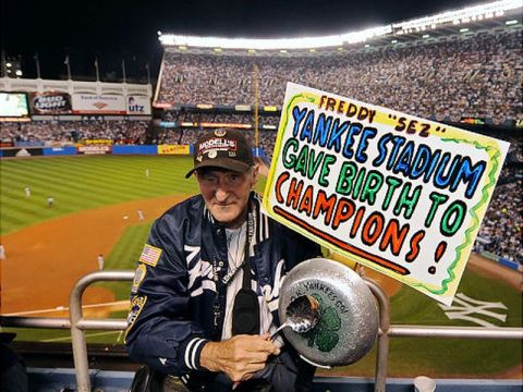 """Freddie"" Longtime Yankees Fan (Photo: New York Daily News)"