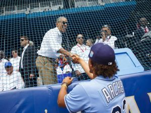 President Obama in Havana to watch the Ray beat the Cuban team (Photo: AP)