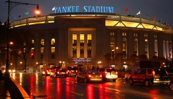 Yankee Stadium in the rain (Photo: Brad Mangin)