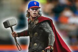Noah Syndergaard In A Box As Thor (Photo: dailystache.net)