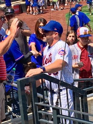Mickey Callaway Has Time For Fans 7/25/2019 (Photo: Steve Contursi, Reflections On Baseball)