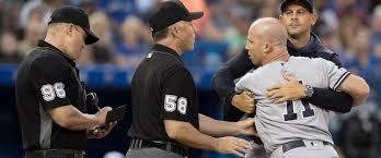 A fired up Brett Gardner gets tossed (Photo: abcnews.com)
