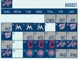 Mets August 2019 Schedule (Source: Mets MLB.com)
