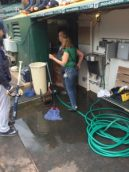 """Excrement Greet The Yankees In Oakland's """"Ballpark"""" (Photo: Billy Witz Twitter_"""