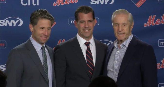 Mets Van Wagenen and the Wilpons (Photo: Mets Merized)