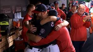 Stephen Strasburg Dislikes hugs - but hel'll accept hugs from teammates (Photo: Deadspin)
