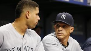 Gary Sanchez and Joe Girardi - like oil and water (Photo: SNY-TV)