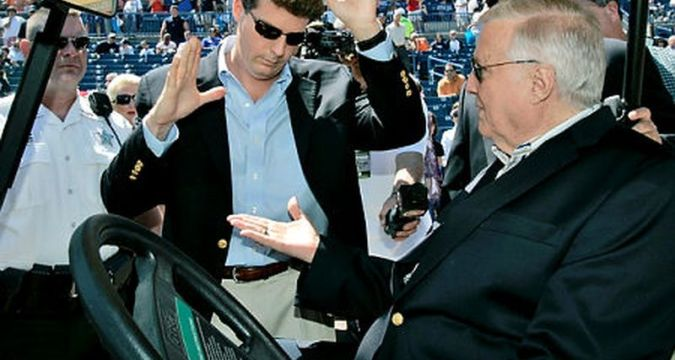 Hal and George Steinbrenner (Photo: New York Daily News)