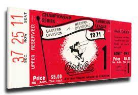 MLB ticket $5.00 in 1971 (Photo: thatsmyticket.com)