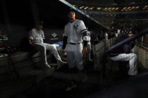 Aaron Judge - New York Yankees Dugout