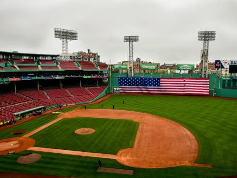 Empty Fenway on Memorial Day (Getty)