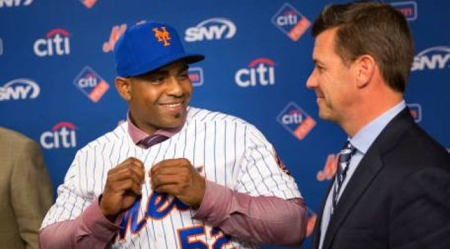 Yoenis Cespedes and Brodie VanWagenen - partners in crime? (Newsday)