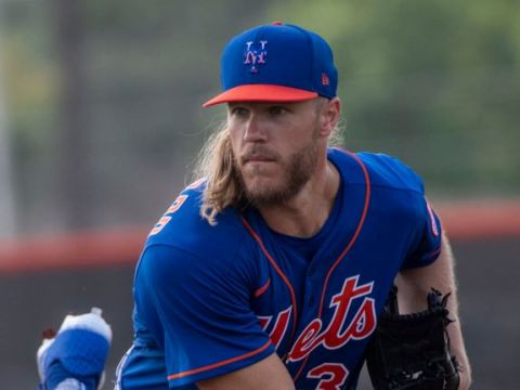 Noah Syndergaard tuning up for 2021 (Newsday/Alejandra Villa Loarca)