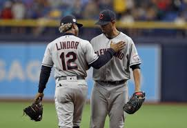 Carlos Carrasco and Francisco Lindor - Teammates again in New York