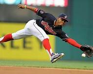<a rel=Francisco Lindor doing what he loves to do