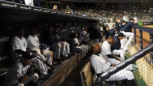 Yankees crowded dugout is not helping