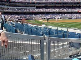 Empty Blue Seats At Yankee Stadium