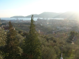A view of the Gulf of La Spezia from the Belvedere