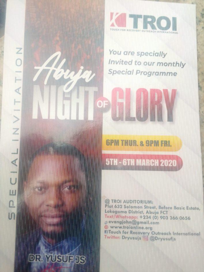 TROI hosts Abuja Night of Glory