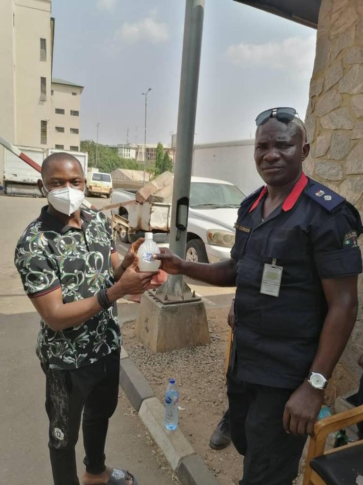 Covid-19: Dr. Yusuf, Senior Pastor, TROI Church distributes Preventive Kits to Taskforce Members in Abuja
