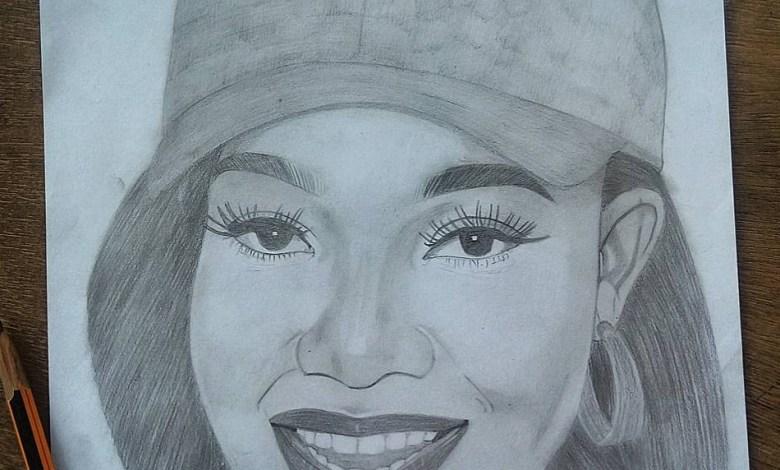 American Teen gifts Tacha Pencilled Art Portrait