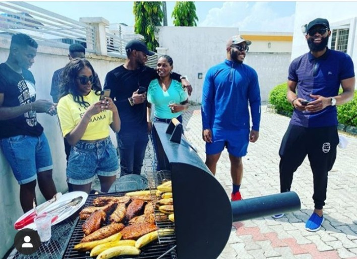 Lucy Hosts Ex-Housemates To A Special Bolle, Grilled Fish Session [Video]