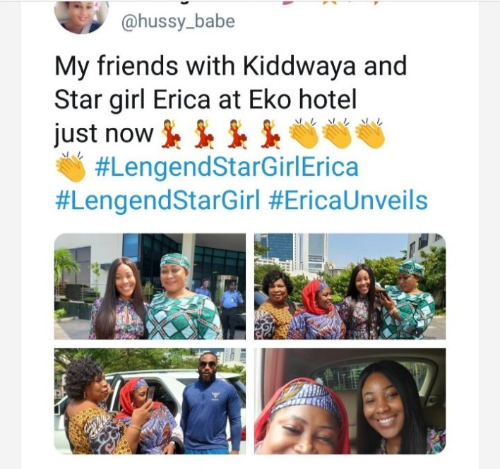 Fans Reacts As Kiddwaya and Erica Avoids Photo Session together At Chance Meeting [Photos]