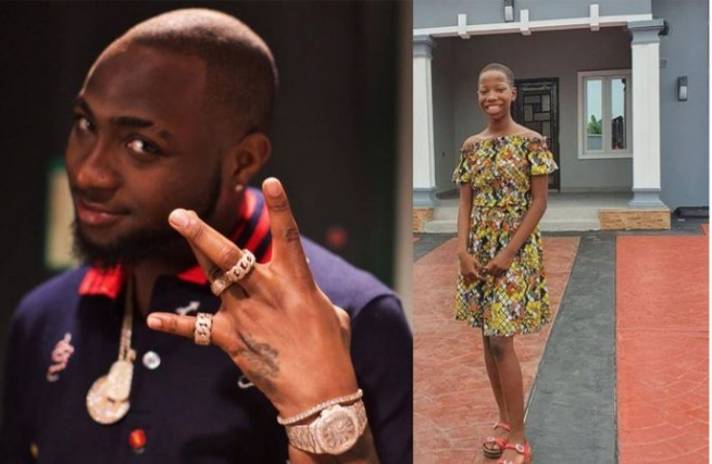 Photo of Davido Praises Emanuella For Building a House For Her Mother