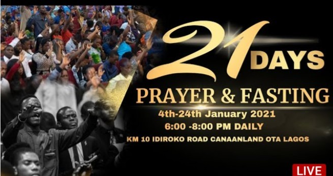 Winners Chapel 21 Days Fasting and Prayers 5 January 2021 - Day 2