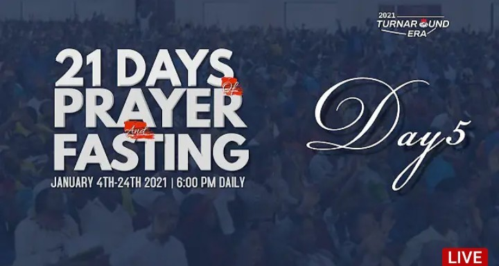 Annual 21 Days of Fasting and Prayers of Winners Chapel 8 January 2021
