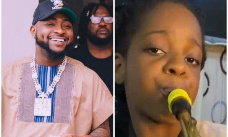 10-year-old Saxophonist Gets N500K From Davido for Playing 'Jowo' Perfectly [Video]