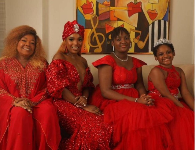 Annie Idibia Glows in Three-Generation Photoshoot With Mum, Daughters (Photo)