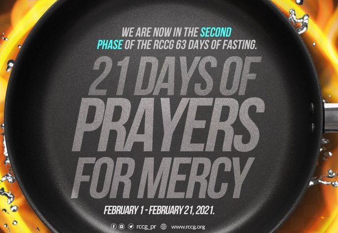 Phase 3 of RCCG 63 Fasting And Prayer 22nd February 2021 - Day 1
