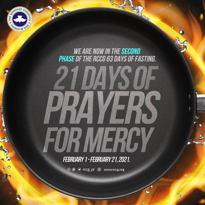 RCCG 63 Days Fasting And Prayer 17th February 2021 – Day 17 Prayer Points