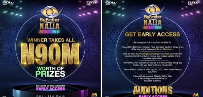 Two Quick Steps to Audition for Big Brother Naija Season 6 [Read]