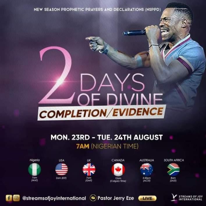 Live NSPPD Prophetic Prayers Jerry Eze 23 August 2021  FIRE PRAYER 