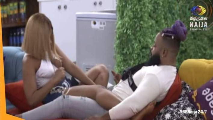 BBNaija Queen Locks Lips With Whitemoney, Says It Gives Strength
