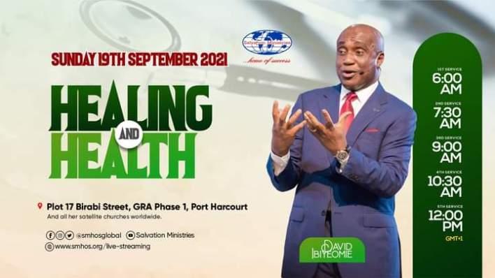 Live David Ibiyeomie Sunday Services 19 September 2021 - Health & Healing
