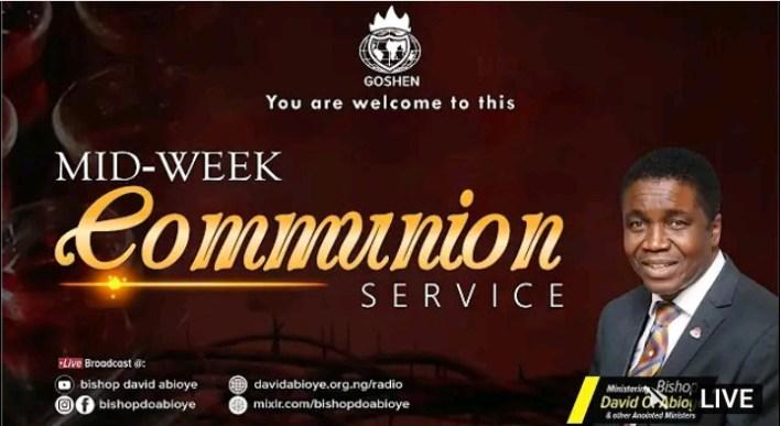 Live Communion Service David Abioye 8th September 2021 |WINNERS|